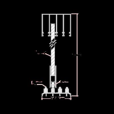 Skydeglas – under 180 cm i højden